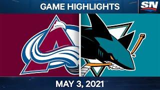 NHL Game Highlights | Avalanche vs. Sharks - May 3, 2021