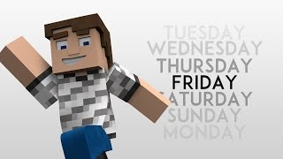 Days of The Week - Minecraft Animation (Weekly Tests: ep45)