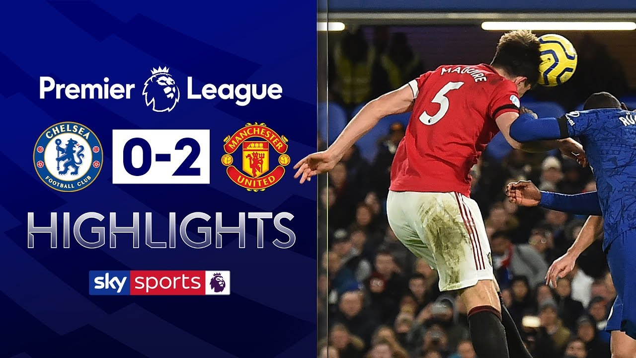 Maguire scores after avoiding red card for kick on Batshuayi | Chelsea 0-2 Man Utd | EPL Highlights