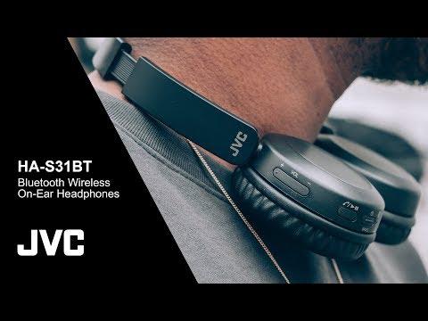 HA S31BT Bluetooth Wireless On Ear Headphones   JVC