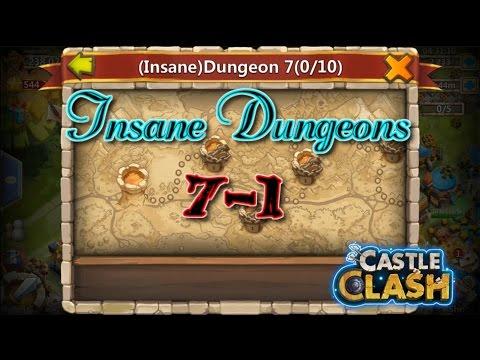 Castle Clash Insane Dungeon 7-1 Gameplay