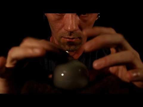 Light Bulb and Moss Stone Tapping ASMR 3Dio 60 FPS