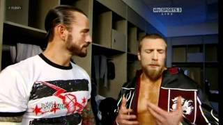 WWE Superstar Daniel Bryan (Bryan Danielson) tells CM Punk what a vegan is (RAW - 01/30/12)