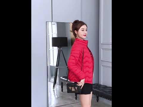 [해외직구] 2019년 신상 패딩 여성 숏 기장 경량 솜저고리 패딩 겨울 점퍼