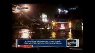Ilang lugar sa Davao City, binaha dahil sa pag-ulang dala ng intertropical convergence zone