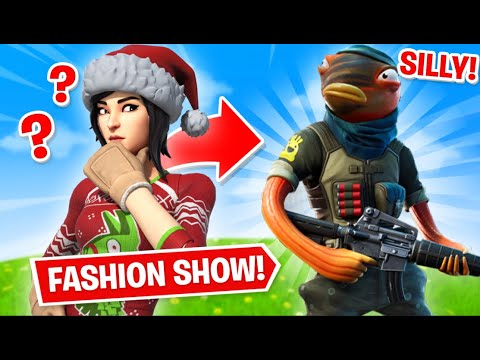Fortnite   Fashion Show! Skin Competition! *MOST SILLY SKINS* & EMOTES WINS! [8/8]