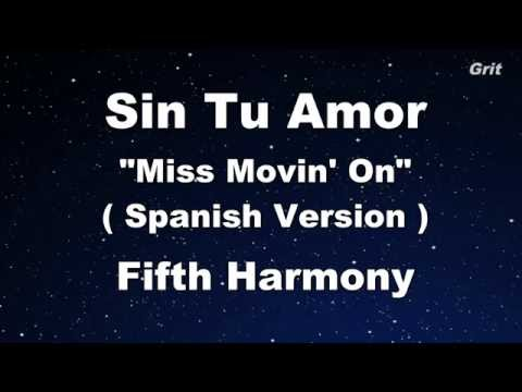 Sin Tu Amor - Fifth Harmony Karaoke 【With Guide Melody】 Instrumental