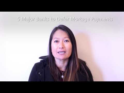 Homeowner Relief - 5 Major Banks To Defer Mortgage Payments
