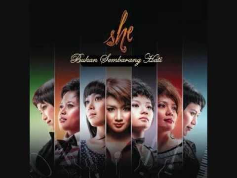 SHE - BUKAN SEMBARANG HATI (WITH LYRICS) BEST VIEW