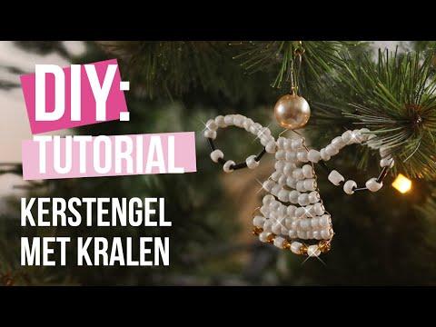 Sieraden maken: Kerstengel maken met Artistic Wire en kralen ♡ DIY