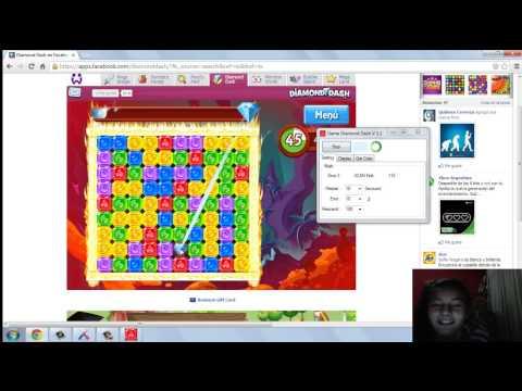 Hack diamond dash para puntos (auto-click)