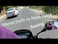 Swift Dzire vs pulsar resh on the road