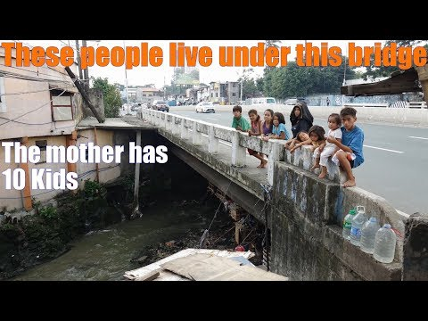 Travel to ASIA: Go to Manila Philippines and Meet these People Who Live Under the Public Bridge