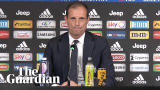 Juventus coach Allegri emotional after sacking: 'I won't cry now. I cried enough yesterday'