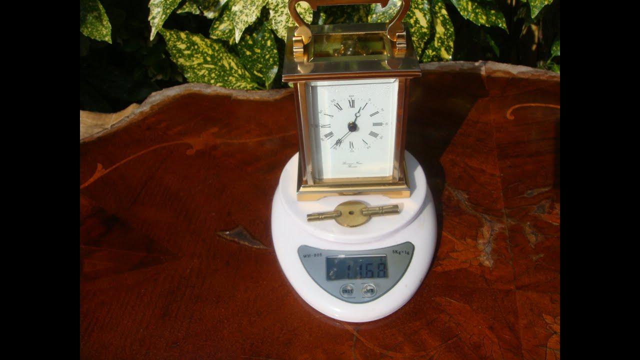 Brass Escapement Carriage Clock No idea It\'s age Modern Vintage ...