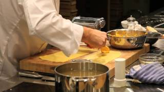 Theo Randall Steams A Delicious Butternut Squash Ravioli