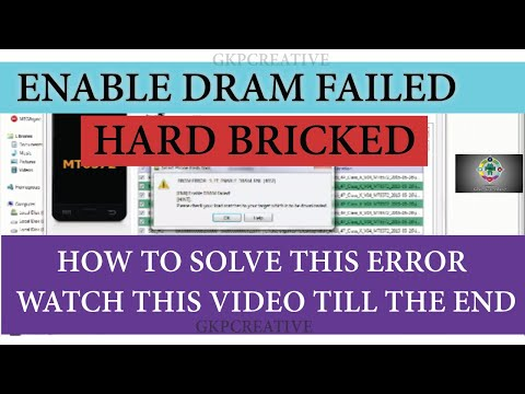 How To Solve Enable DRAM Failed Error In Sp Flash Tool