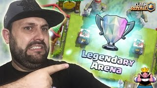 I'M LEGENDARY in ROYALE!!  WE GOT THE LEGENDARY ARENA CLASH ROYALE WITH THE STRATEGY OF SPARKY!!