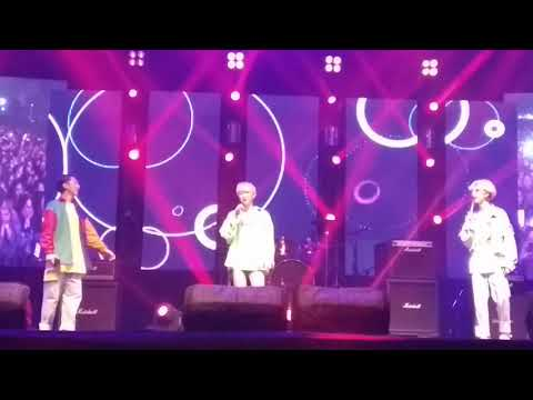MONT in India | Kpop band M.O.N.T singing Bollywood songs at HIMF 2018