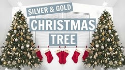 DECORATING MY CHRISTMAS TREE! || SILVER AND GOLD ORNAMENTS