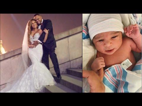 Adrienne Bailon Israel Houghton Rush To Wedding Rob Kardashian Blac Chyna Welcome Baby Dream