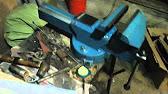 Обзор Тиски слесарные 100 мм Htools - YouTube