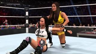 WWE 2K15 Nikki Bella vs AJ Lee Divas Championship
