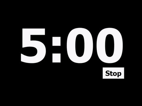 5 Minute Countdown Timer - YouTube