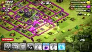 """Clash of Clans - MAX LEVEL GOLEM """"GoWiWi"""" 3 Star Attack Strategy #1"""