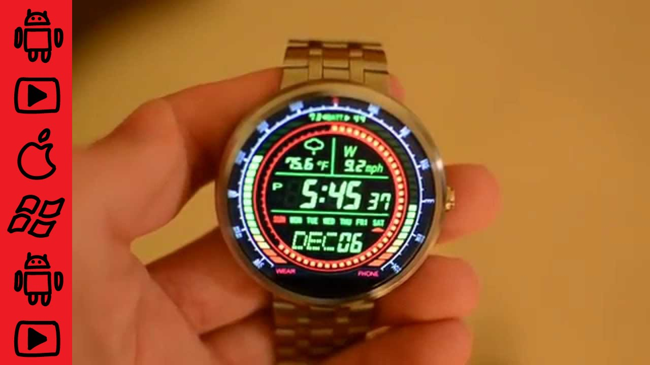 Moto 360 Custom Watch Face Review - F02