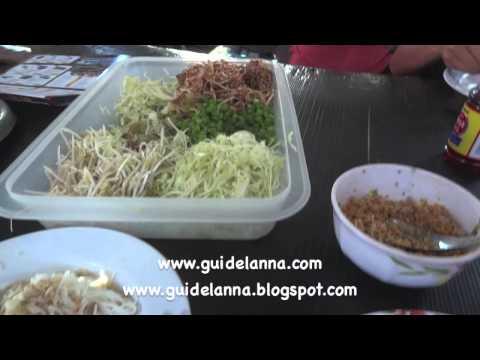 กินขนมจีนน้ำเงี้ยว กาดงัว สันป่าตอง เชียงใหม่