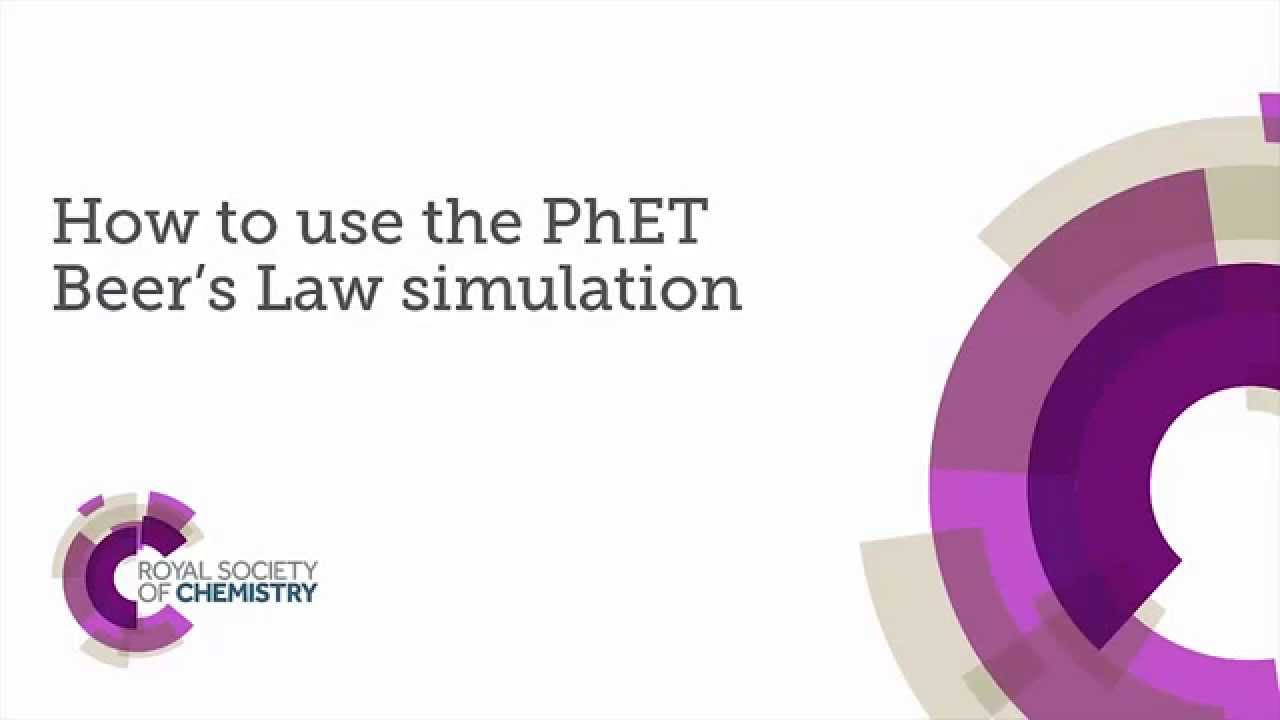 How to use the PhET Beer's Law simulation