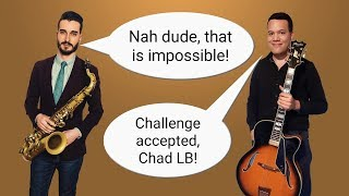 Can I play CHAD LB's SAXOPHONE jazz licks on GUITAR?