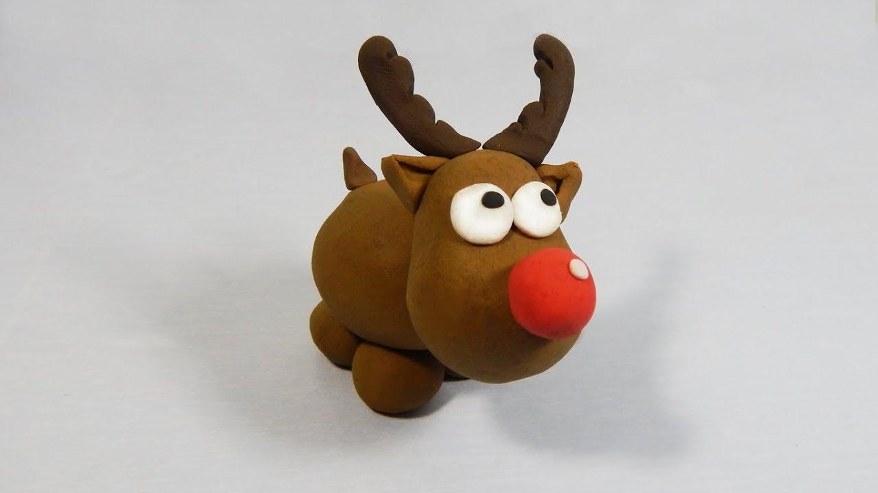 C mo hacer un reno navide o rodolfo de plastilina paso a for Menu navideno facil de hacer