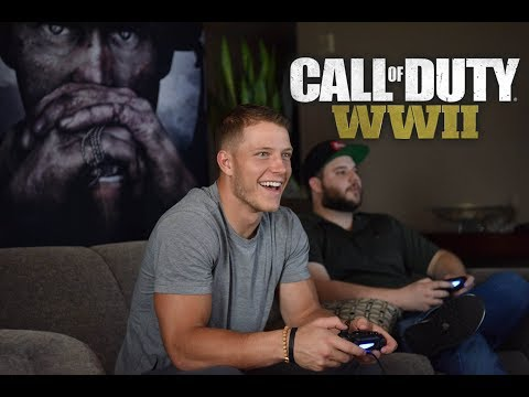 GAMING WITH NFL RUNNING BACK CHRISTIAN MCCAFFREY!