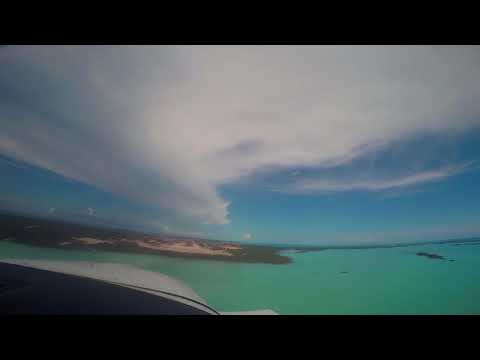 Approach and Landing at Providenciales (Provo) in a Cessna 182.