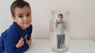 Buğra Kavanoza Saklandı. Hide and Seek Fun Kids Video