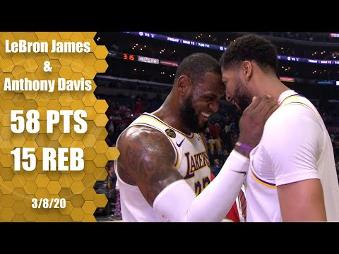 LeBron and AD combine for 58 points in Lakers vs. Clippers showdown | 2019-20 NBA Highlights