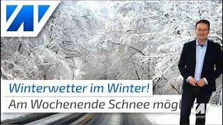 Schnee am Wochenende! Beißt sich der Winter nun doch noch fest?