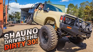 DIRTY 30 DRIVES FOR THE 1ST TIME! Plus Shauno's INSANE canopy & tray setup - Dirty 30 Buildup Part 5