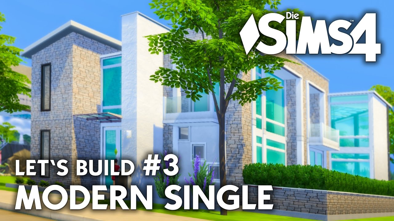 die sims 4 haus bauen modern single 3 let 39 s build deutsch youtube. Black Bedroom Furniture Sets. Home Design Ideas