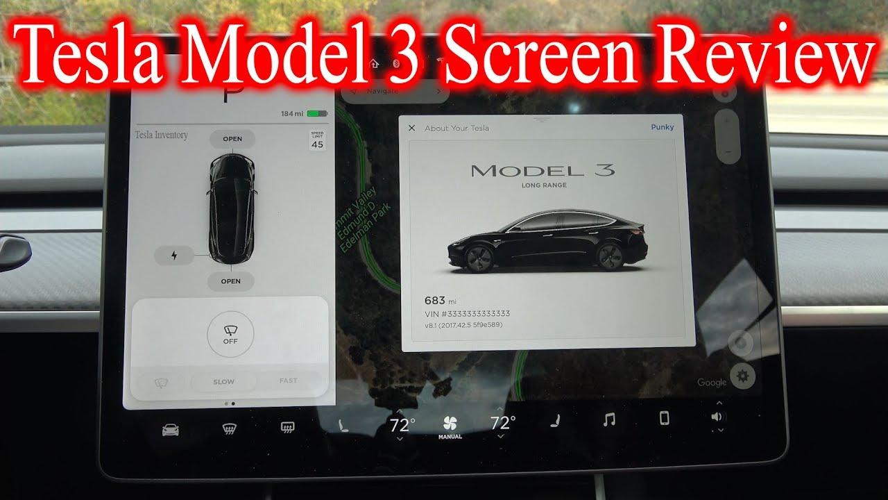 Tesla Model 3 Screen In Depth Review