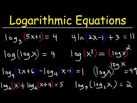 Solving Logarithmic Equations