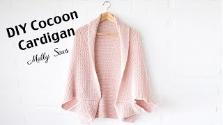 DIY Cocoon Cardigan - Make a Blanket Sweater