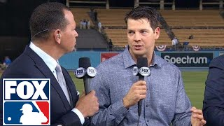 Rich Hill joins FOX MLB Crew to discuss the big win in Game 6 | 2017 MLB Playoffs | FOX MLB