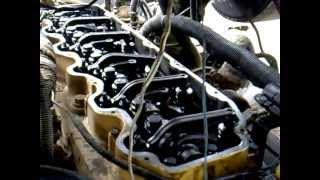 Arranque de motor caterpillar 3126.mp4
