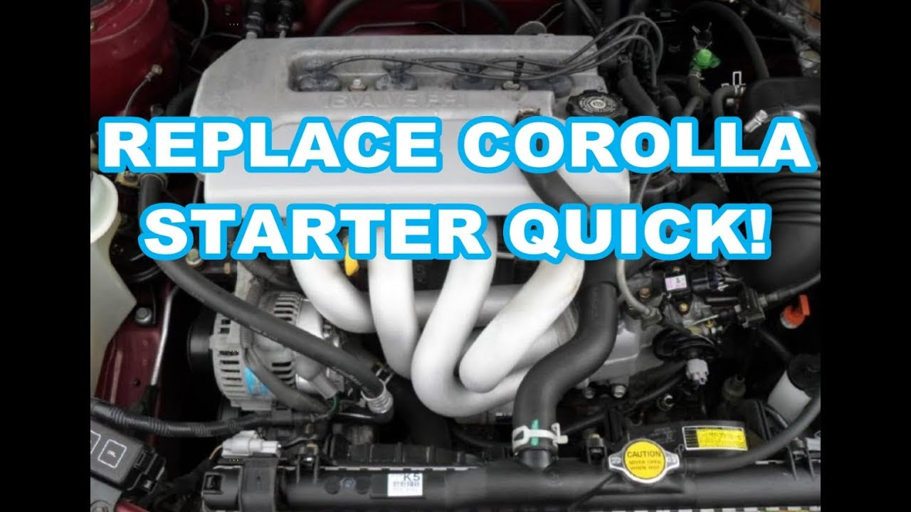 Starter Replacement 1999 Toyota Corolla 98 08 1998 2000 2001 2002 2003 2004 2005 2006 1 8l 8
