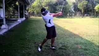 Syahrani Golf Swing slow motion (Isen Mulang Golf Club Palangkaraya)