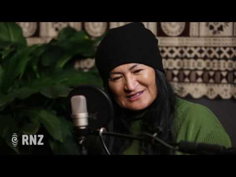 Annie Crummer and her father sing for Cook Islands Language Week