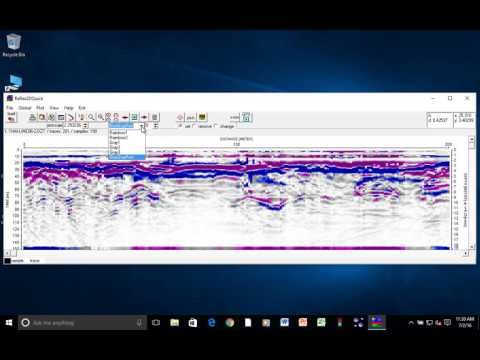 GPR Data Processing using Reflex2DQuick